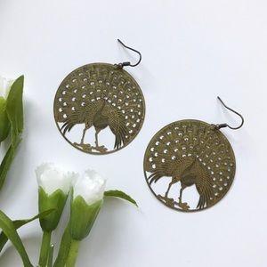 Peacock Hoop Earrings - Urban Outfitters